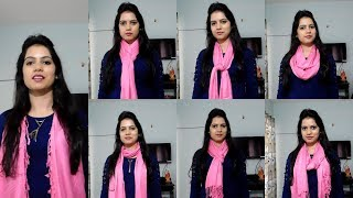 7 ways to wear a stall/scarf tying in 7 ways/how to tie a scarf/TipsToTop By Shalini