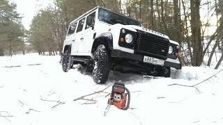 Defend the wood (Land Rover Defender across the fields & woods - Music video)