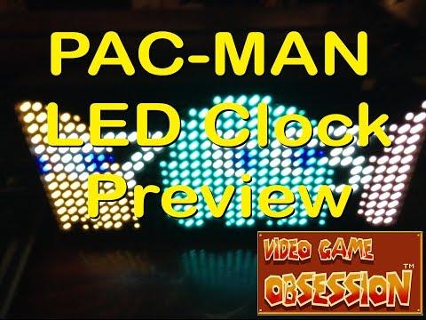 PAC-MAN Premium LED Desk Clock - 512 Vibrant LED's!