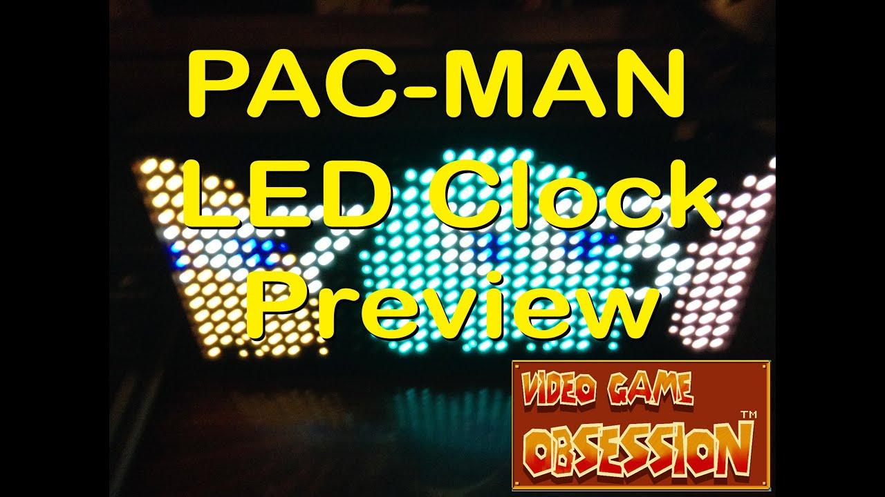 Pac Man Premium Led Desk Clock 512 Vibrant Led S Youtube