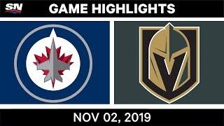 NHL Highlights   Jets vs Golden Knights – Nov. 2, 2019