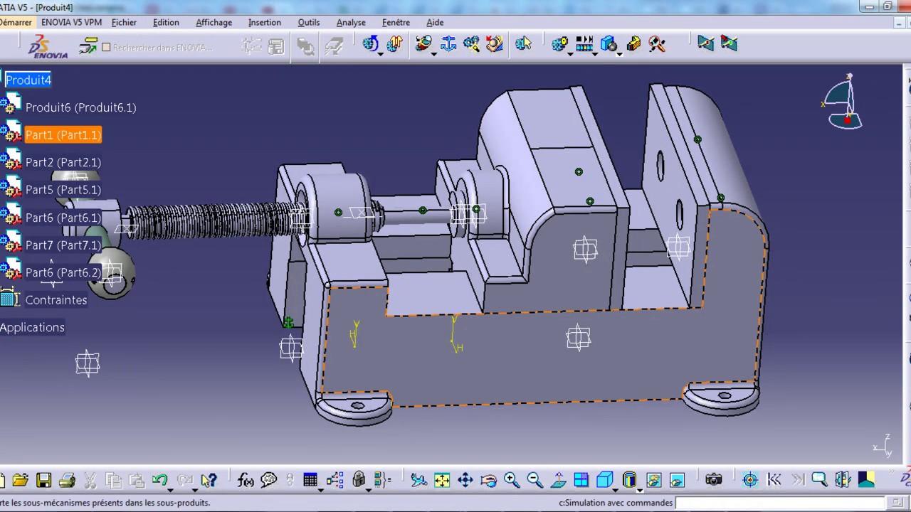 catia v5 tutorial 20 assembly design and dmu kinematics youtube. Black Bedroom Furniture Sets. Home Design Ideas