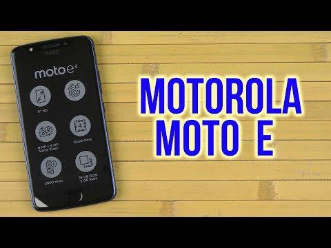 Распаковка Motorola Moto E (XT1762) Blue