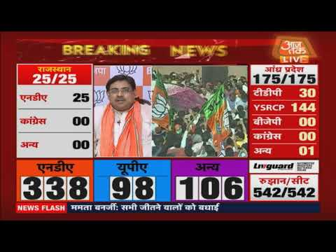Lok Sabha Election Results 2019 LIVE | Aaj Tak LIVE TV | BJP Clinches Historic Victory