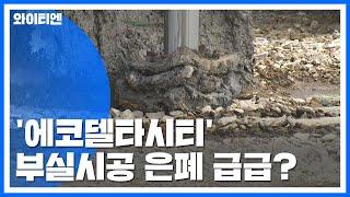 수자원공사-현대건설, '에코델타시티' 부실시공 은폐 급급? / YTN
