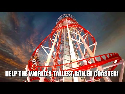 "Skyscraper ""Ride Combo"" Vision Render! World's Tallest Roller Coaster & Drop Tower! IAAPA 2015"