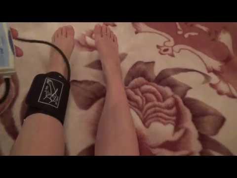 Как измерить давление на ноге в каком месте