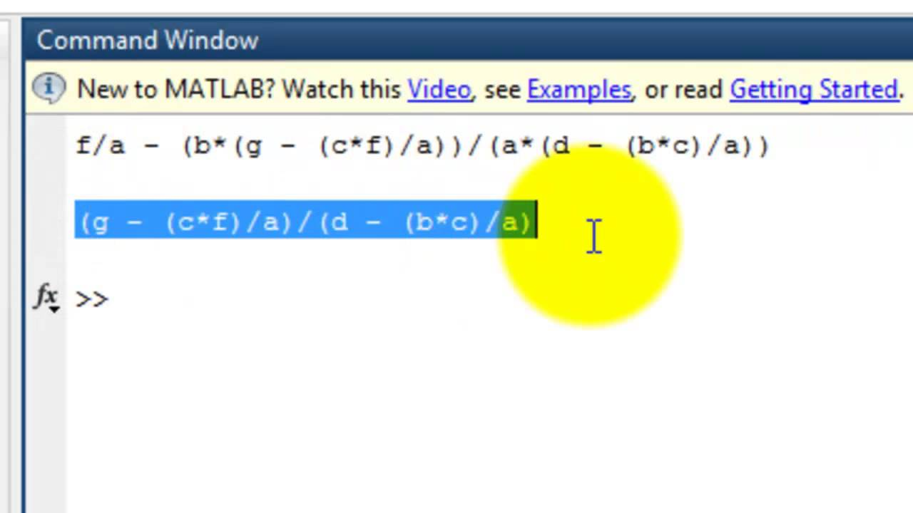 Row Operation with Unknow Parameter using Matlab - YouTube