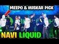 LIQUID vs NAVI - MIRACLE MEEPO & HUSKAR CRAZY PICK MegaFon Winter Clash