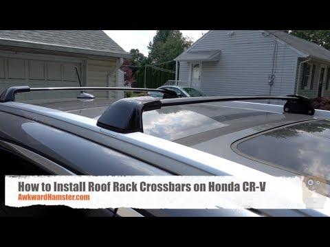how to install roof rack crossbars on honda cr v