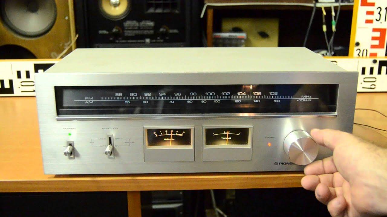 PIONEER Stereo Tuner TX 606 - vintage hifi stereo - top vintage Pioneer