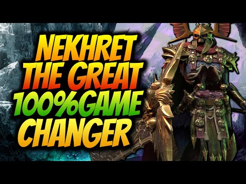 FULLY MAXED NEKHRET THE GREAT GUIDE & REVIEW | A NEW META CHANGER CHAMPION RAID SHADOW LEGENDS