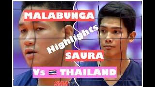 KIM MALABUNGA FRANCIS SAURA HIGHLIGHTS VS THAILAND SEALECT TUNA 2019