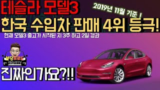 [테슬라TV] 19화. 모델3 출시 20일만에 한국 수입차 판매량 4위?! 실화임??!?!