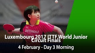 LUXEMBOURG 2017 ITTF World Junior Circuit Finals - Day 3 Morning (Semi-Final)