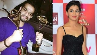 14th ITA 2015 - Karan Patel & Sriti Jha WIN Best Actor & Actress Awards At Indian Telly Awards 2015