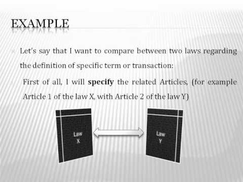 How to Write, Do or Establish a Comparative study (Law)