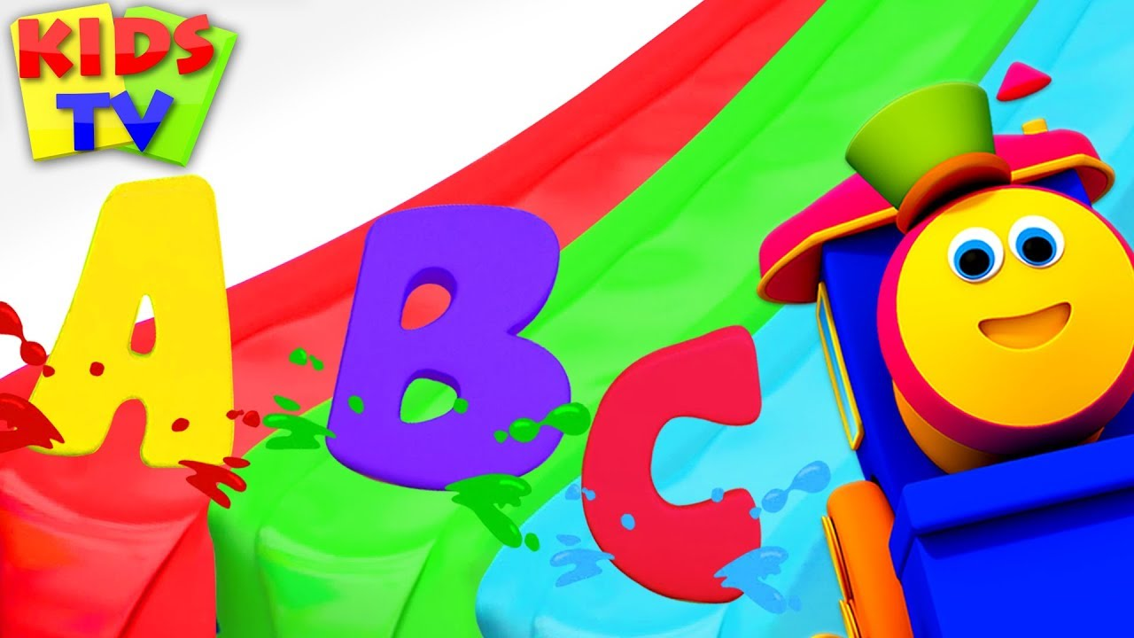 Learn ABC with Color Magic Slide   Bob Fun Series for Kids   Preschool Learning Videos