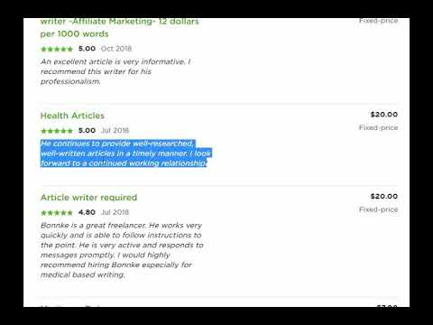 Get Your Writing Job Done by the Best Freelance writer in UpWork