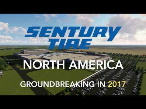 Sentury Tire North America Groundbreaking in 2017