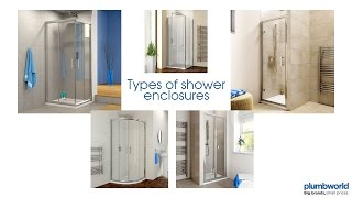 Shower Enclosures Explained - Plumbworld's Guide To Different Types