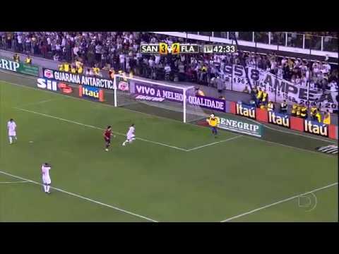 Santos 4 x 5 Flamengo - Gols e Lances pela 12ª Rodada do Brasileirão 2011.