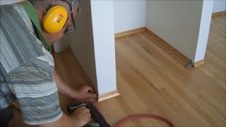 Installing White Oak Baseboards After Floor Refinishing