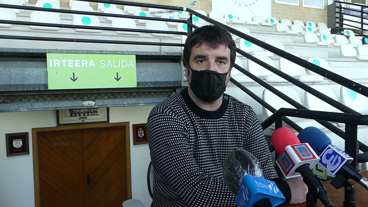 Aitor Zulaika, 1ª jornada 2ª fase, tras el encuentro Real Unión Club-SD Tarazona