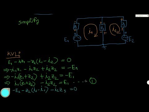 Mesh Analysis : Circuit With Independent Voltage Sources