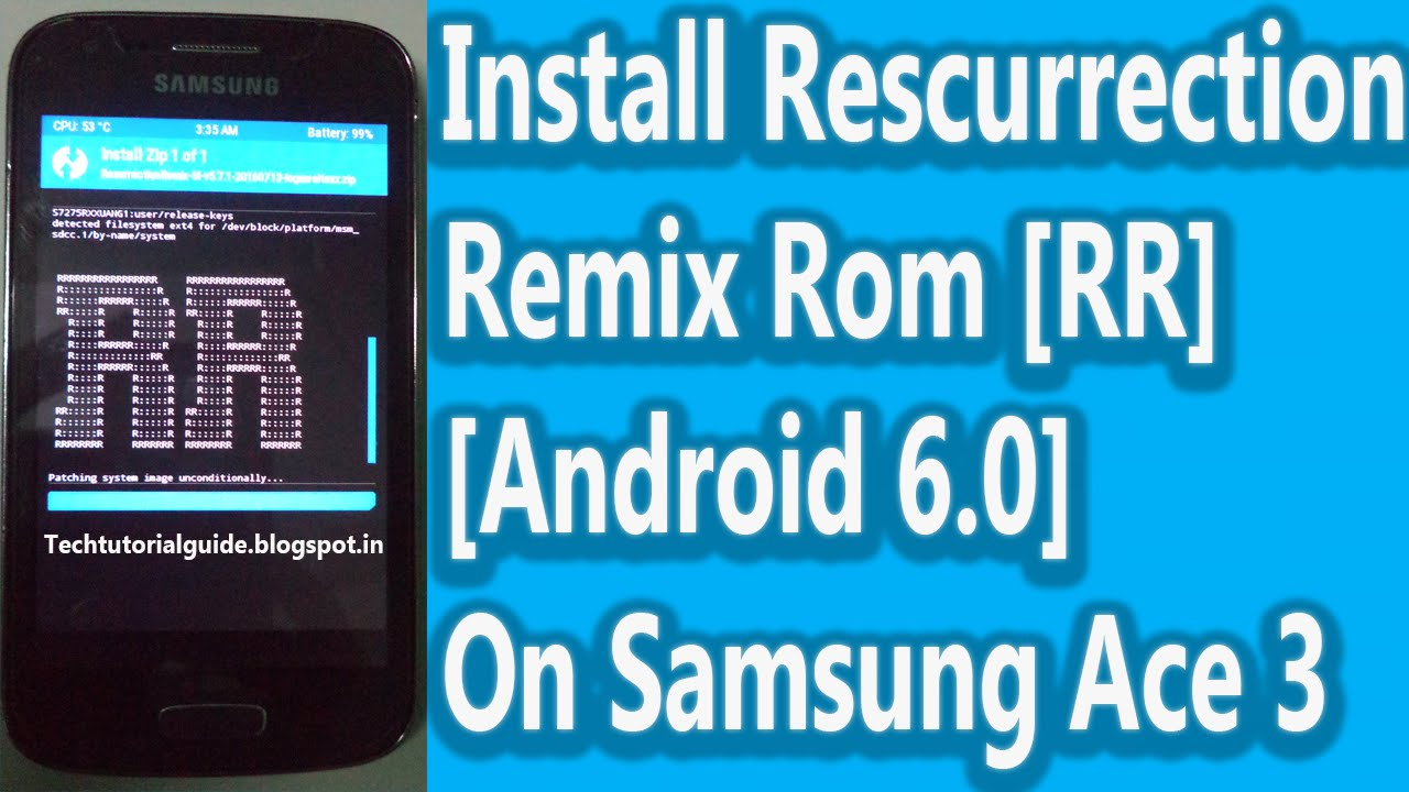 How To Install Resurrection Remix Rom [Android 6 0 Marshmallow] On Galaxy  Ace 3 LTE