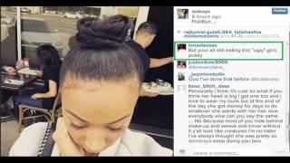 Draya Michele Natural hair style bun FIGHT with Instagram THOT! Basketball Wives LA Season 4 star de