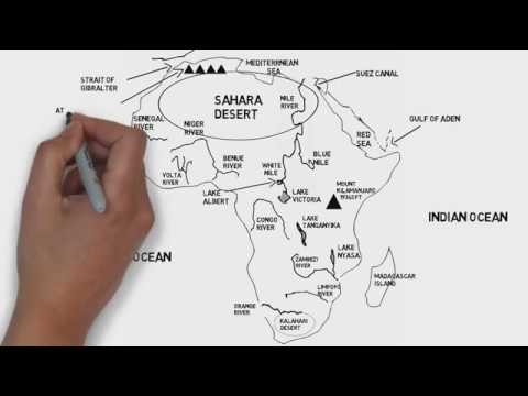 Physical Map Of African Continent Rivers Mountains And Deserts Youtube