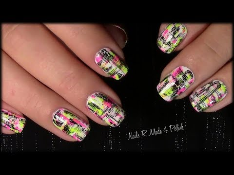 einfaches-nageldesign-selber-machen-/-messy-dry-brush-nailart-manicure-quick-&-easy