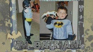 Scrapbook Layout in Process: I'm Batman!
