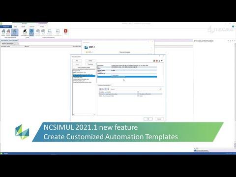 Creation of customized templates | NCSIMUL 2021.1
