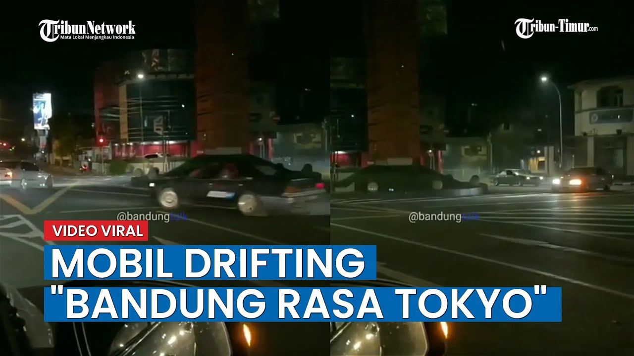Viral, Video 2 Mobil Drifting Bandung Rasa Tokyo, Ini Kata Polisi