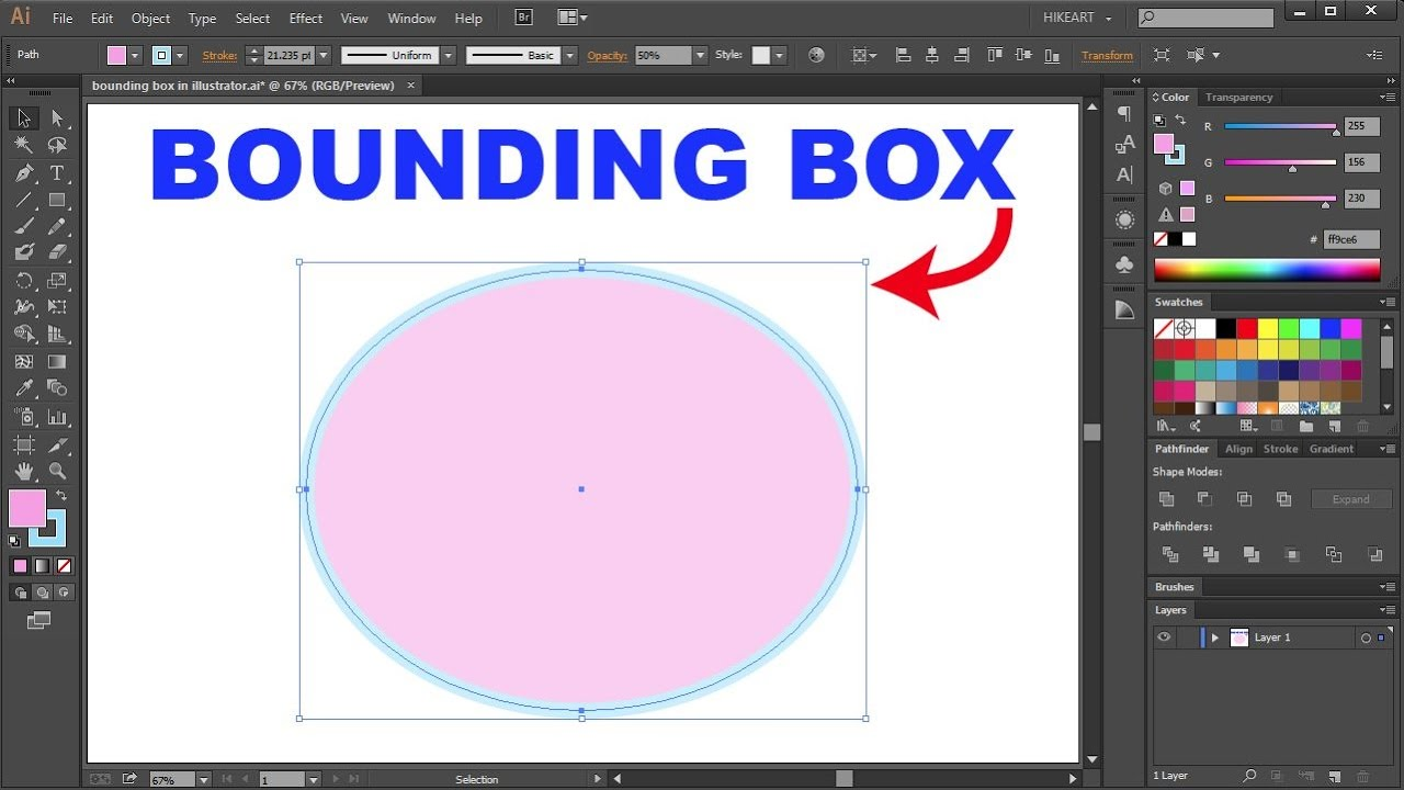 How to Show or Hide a Bounding Box in Adobe Illustrator - Quick Tips