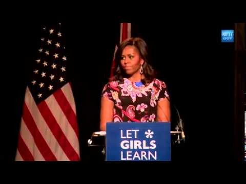 The First Lady Michelle Obama Speaks in London on the Let Girls Learn Initiative