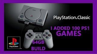 100 GAMES PS1 PS CLASSIC MINI MODDED HACKED 64GB BLEEMSYNC - RETRO PRO FRANK