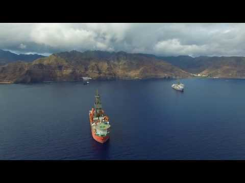 Barcos Perforadores (Drill Ships) ENSCO DS3 - WEST CAPELLA en TENERIFE.