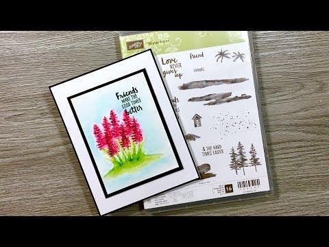 Waterfront Card | Hyacinth | Art Stamping | Stampin Up