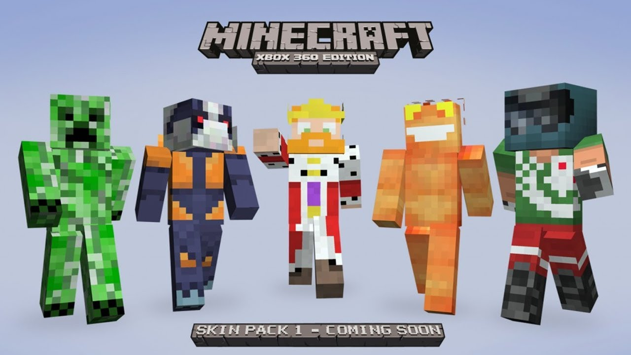 Minecraft Xbox 360 Edition : Custom Skins for Minecraft 1 ...