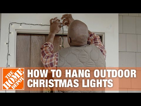 how to hang outdoor christmas lights the home depot youtube