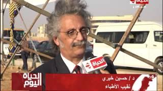 بالفيديو.. نقابة المهندسين تضع حجر الأساس لأول مستشفى لها في مدينة بدر
