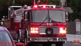 LAFD Light Force 61 Responding
