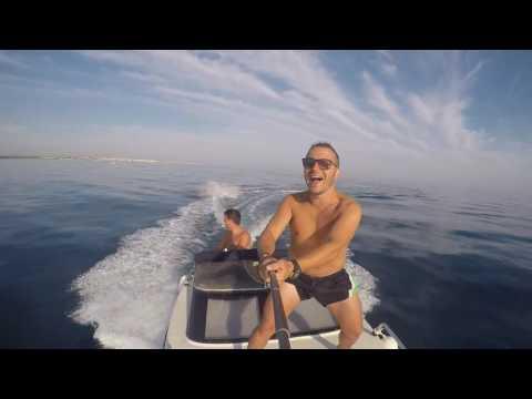 Wakesurfing offshore gopro hero 4