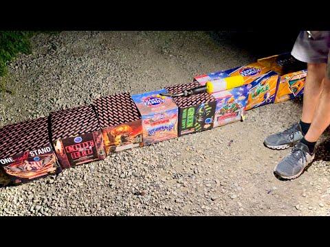 Lighting $1000 Worth of 500g Firework Cakes! (HAPPY FAMILY BRAND)