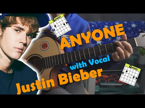 Justin Bieber Anyone Guitar Tutorial with Vocal