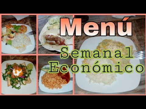 Comidamexicana Comidacasera Menu Semanal Economico I Comida Casera
