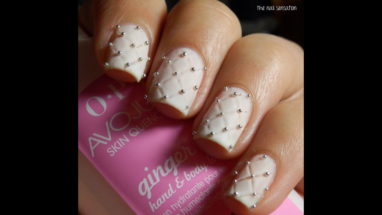 Tutorial Quilted Nails Youtube